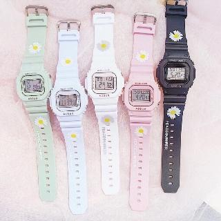 Đồng hồ điện tử nam nữ Aosun dây hoa cúc mẫu mới cực hot thumbnail