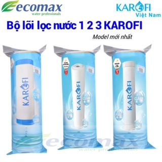 Bộ 3 lõi lọc Karofi 1,2,3 Hàng chính hãng, dùng cho các máy lọc RO thumbnail