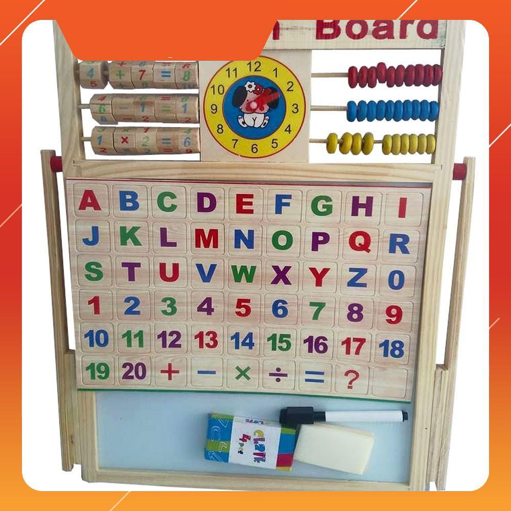 [SALE OFF] Bảng từ 2 mặt education Board và bộ số kèm bảng gỗ có núm phương tiện | HÀNG MỚI
