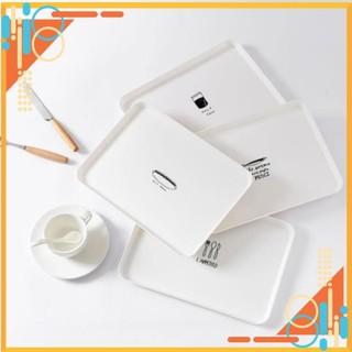 [Giá Hủy Diệt] Đĩa ăn sáng đơn giản, khay trà nhựa, đĩa ăn tráng miệng làm phụ kiện chụp ảnh đồ ăn