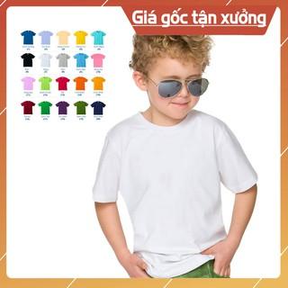 Áo thun trẻ em trơn cotton 20 màu 🔹NTT KD🔹 Áo trẻ em nam nữ cotton trơn thoáng mát