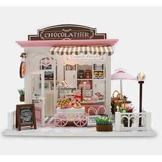 Mô hình đồ chơi nhà búp bê DIY – Tiệm bánh, chocolate (TDMW03)