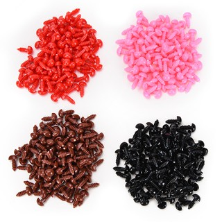 [BUDD&vn] 100 Pcs/Set Plastic Bear Nose Triangle Velvet Noses Buttons DIY Bear Toy Supply