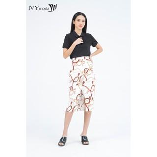 [Mã FAMALLT5 giảm 15% đơn 150k] Chân váy nữ họa tiết IVY moda MS 31M4957 thumbnail
