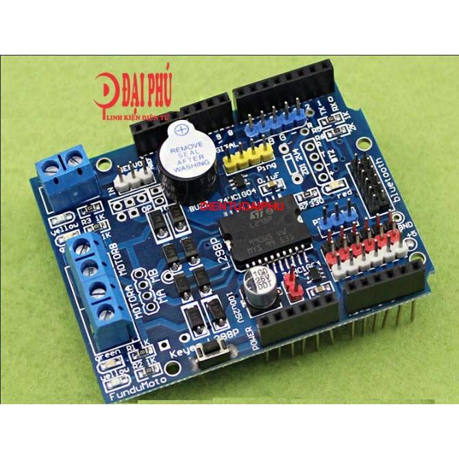 MẠCH Arduino L298P Motor Shield