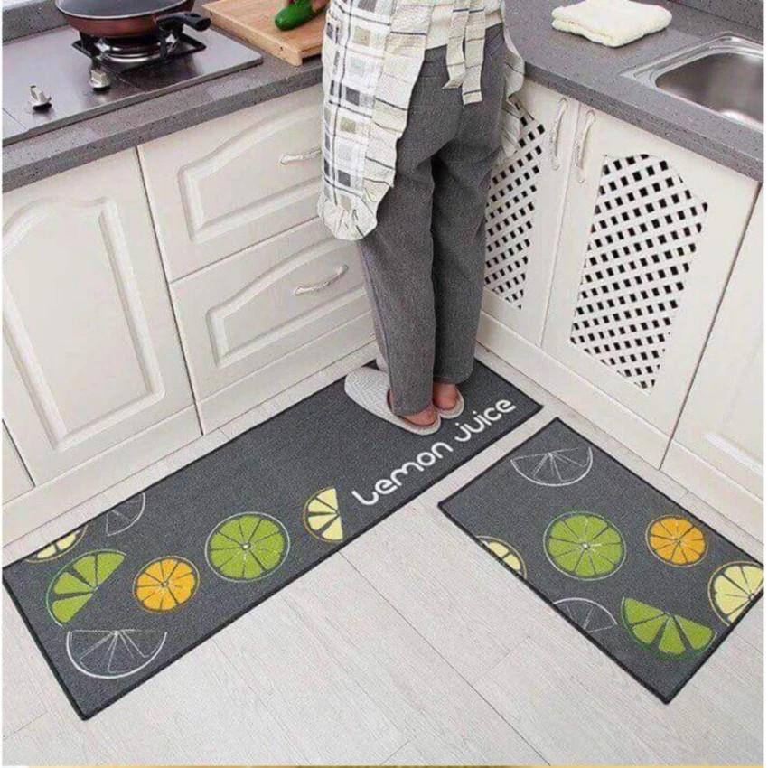 Thảm bếp đôi KT 1.2mx0.4m +0.6mx0.4m (họa tiết ngẫu nhiên)