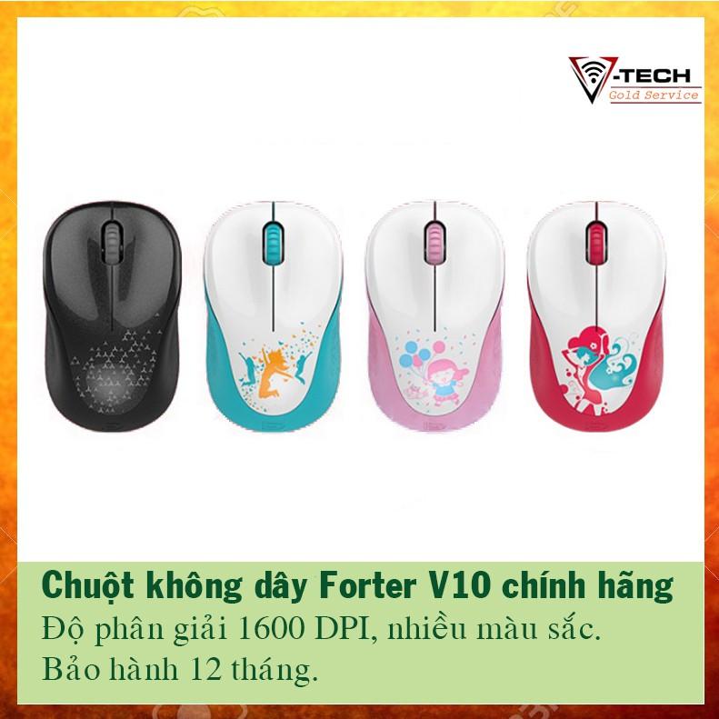 Chuột không dây, chuột máy tính Forter V10 chính hãng (có tem)
