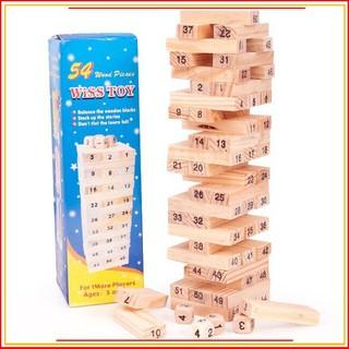 (Rẻ – Đẹp – Chất)Bộ đồ chơi rút gỗ gồm 54 chi tiết sáng tạo cho trẻ