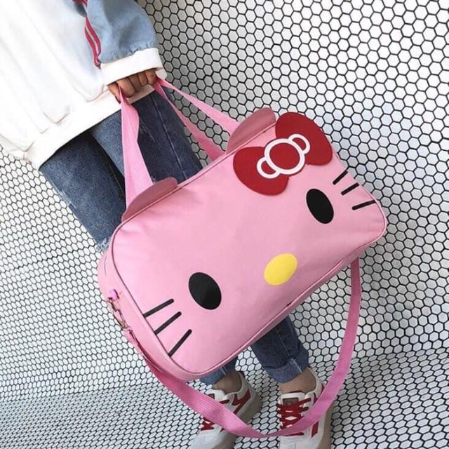 Túi Xách Du Lịch Mèo Hello Kitty