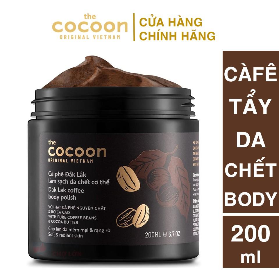 [CHÍNH HÃNG] Tẩy Da Chết Cà Phê Đăk Lăk Cocoon 200ml (Body Polish)