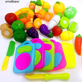 💮🐬Kids Pretend Role Play Kitchen Fruit Vegetable Food Toy Cutting Set Gift