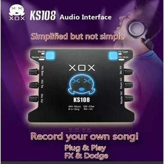 Soundcard thu âm XOX K10 /KS108 karaoke online tặng kèm cáp kêt nối âm thanh