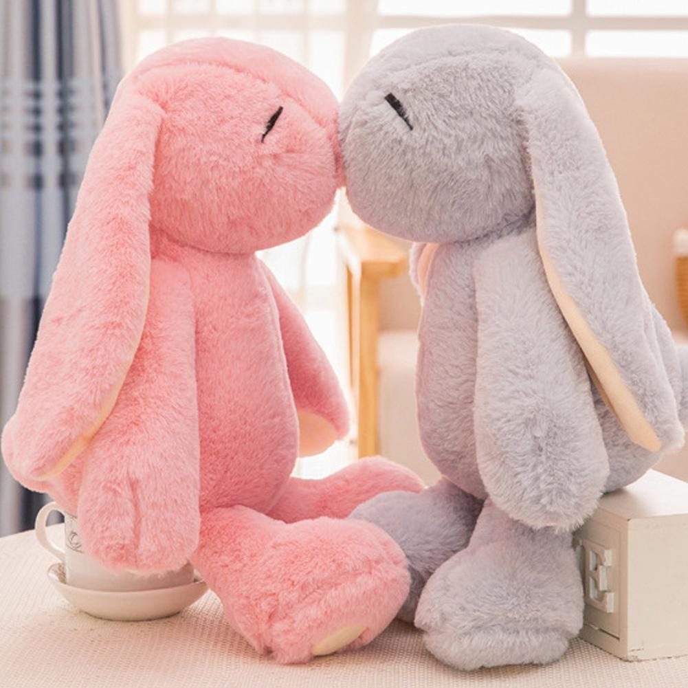 Stuffed Cartoon Sleeping Rabbit Soft Kids Gift Baby Cute Animal Toys Plush Doll