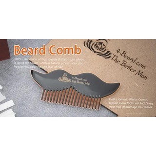 Lược Chải Râu Beard Comb -Sừng Bò Châu Phi