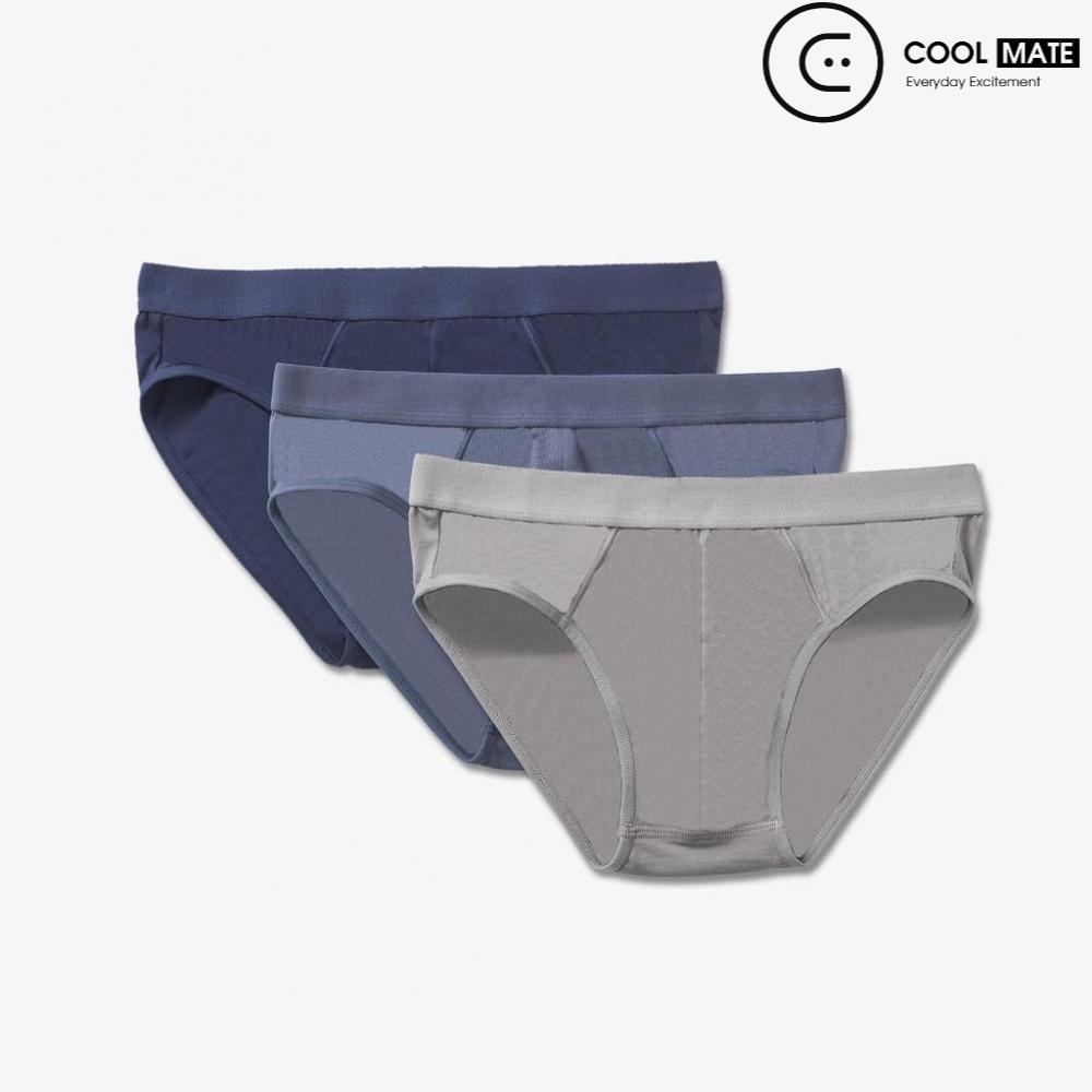 Combo 3 quần sịp tam giác xanh ghi,xám, xanh đen Coolmate TG-