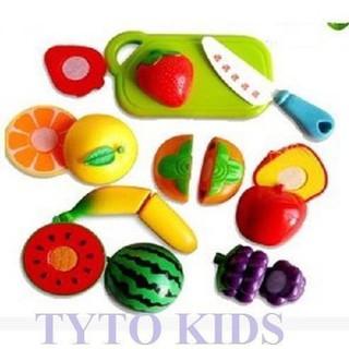 Đồ chơi cắt hoa quả – rau củ nhựa cho bé