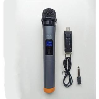 [Mã ELFLASH5 giảm 20K đơn 50K] Bộ micro UHF dùng cho loa kéo , dàn âm thanh , hát karaoke V12 ( Hàng nhập khẩu )