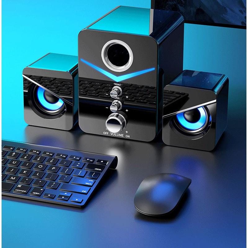 Loa Vi Tính 2.1 Gaming NOCI D-221 Super Bass Phiên Bản Cao Cấp Dùng Cho Máy Tính PC Laptop Điện Thoại