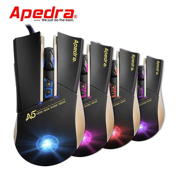 Mouse Gaming APEDRA A5 Dây dù - Led 7 màu