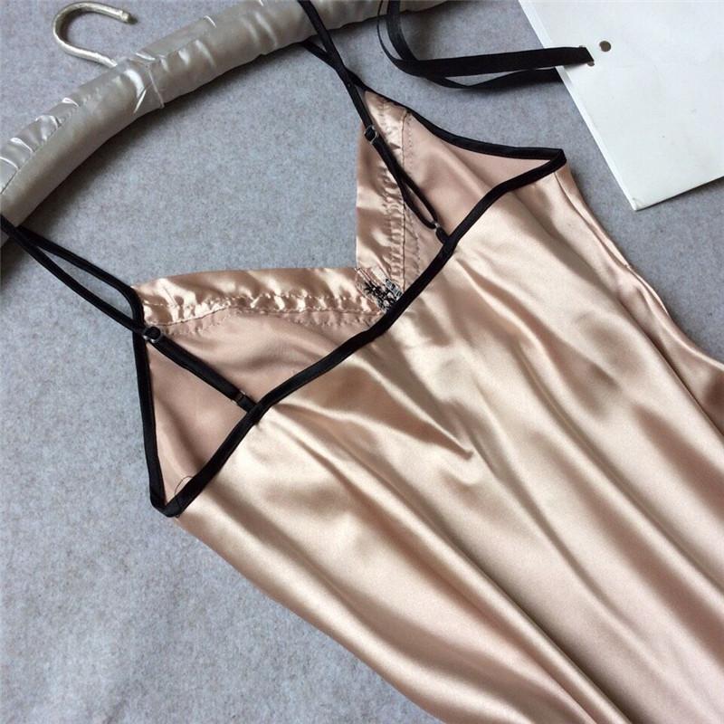 Đầm Ngủ Vải Lụa Cỡ Lớn Gợi Cảm Cho Nữ