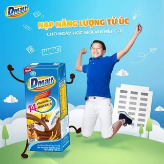 [Tặng bộ xe công trình] Combo 2 thùng DMalt 64 hộp sữa Cacao lúa mạch 180ml