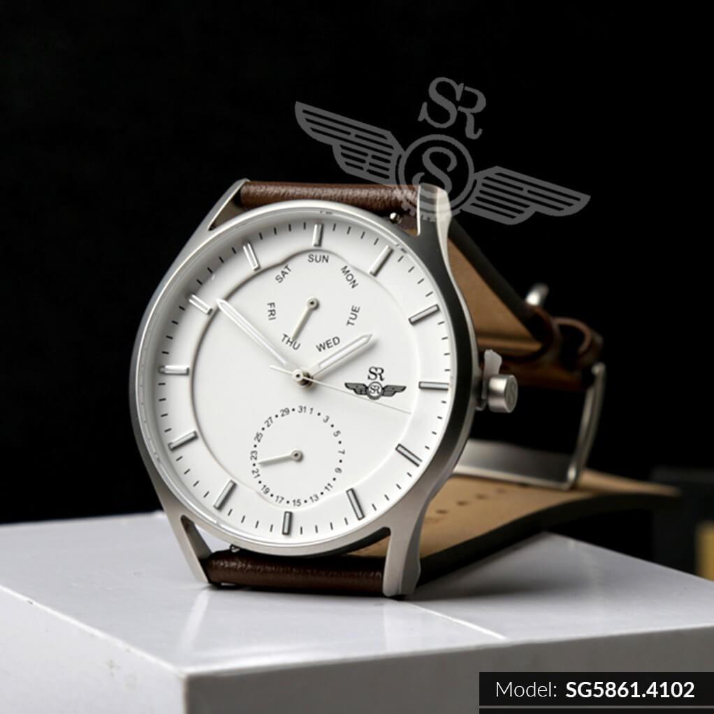 Đồng hồ nam SRWATCH Chrono Sport SG5861.4102 mặt trước và sau bằng Sapphire chống tr