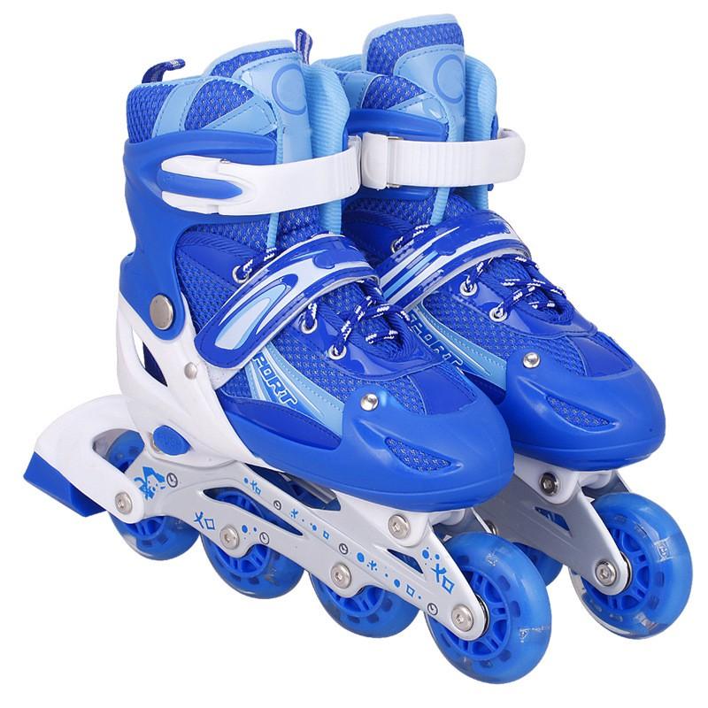 Giày Trượt Patin QF Xanh Size M (35-38)