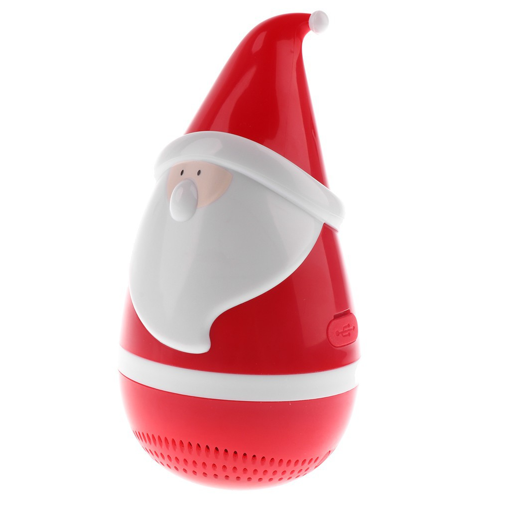 Mini Bluetooth Portable Roly-Poly Santa Claus Speaker Wireless Music Player