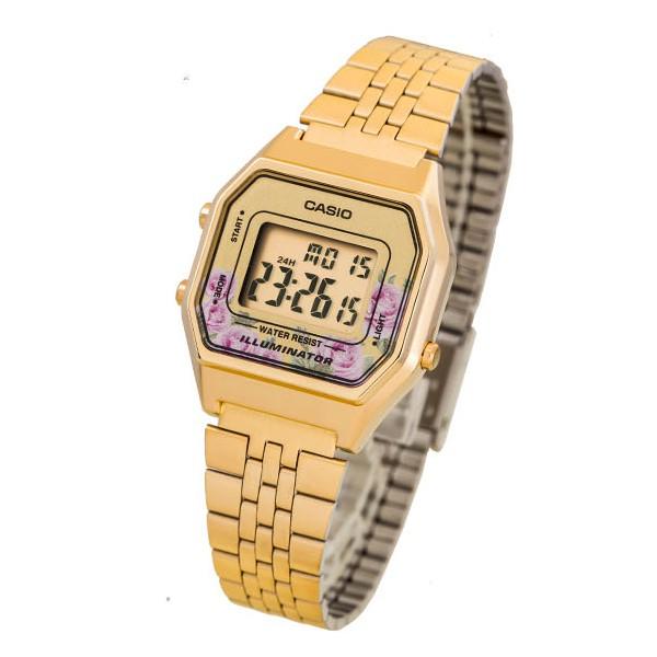 [Mã FARSBR243 giảm 15% đơn 249K] Đồng hồ nữ dây thép không gỉ Casio Standard Anh Khuê LA680WGA-4CDF