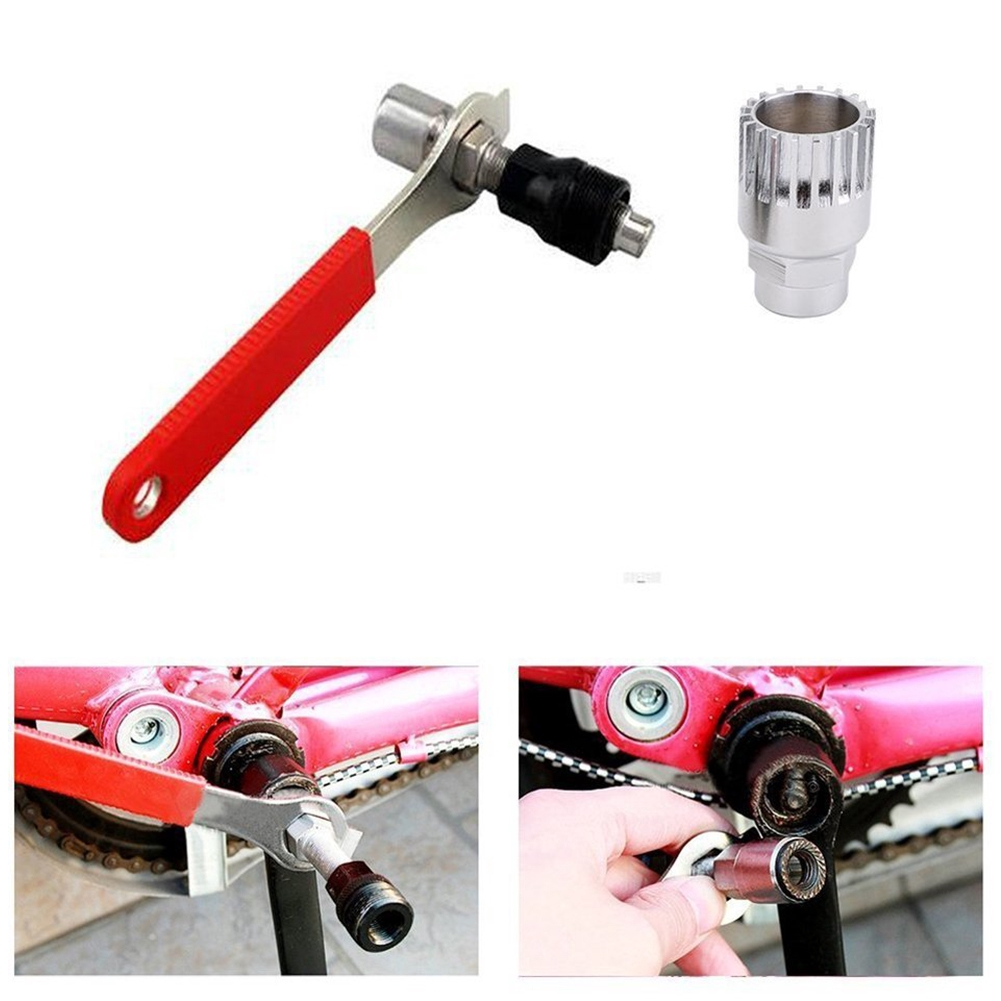 Professional Bike Bicycle Cycle Crank Extractor Puller Bottom Bracket Remover Removal Spanner Repair Tools Kit