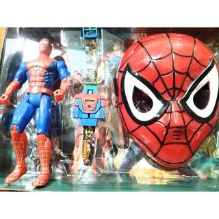 Trò chơi hoá trang thành siêu anh hùng người nhện phát nhạc có đèn (tặng kèm pin)