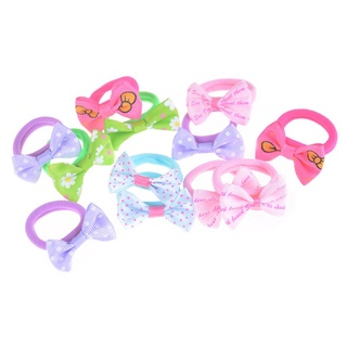 YL 10Pcs Cute Ribbon Hairbow Girls Hair Top Rope Hair Bow Baby Kids Hair Accessories VN3