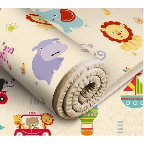 Thảm cuộn 2 mặt chống thấm cho bé - Thảm chống thấm nước - Thảm chơi trải sàn cho bé