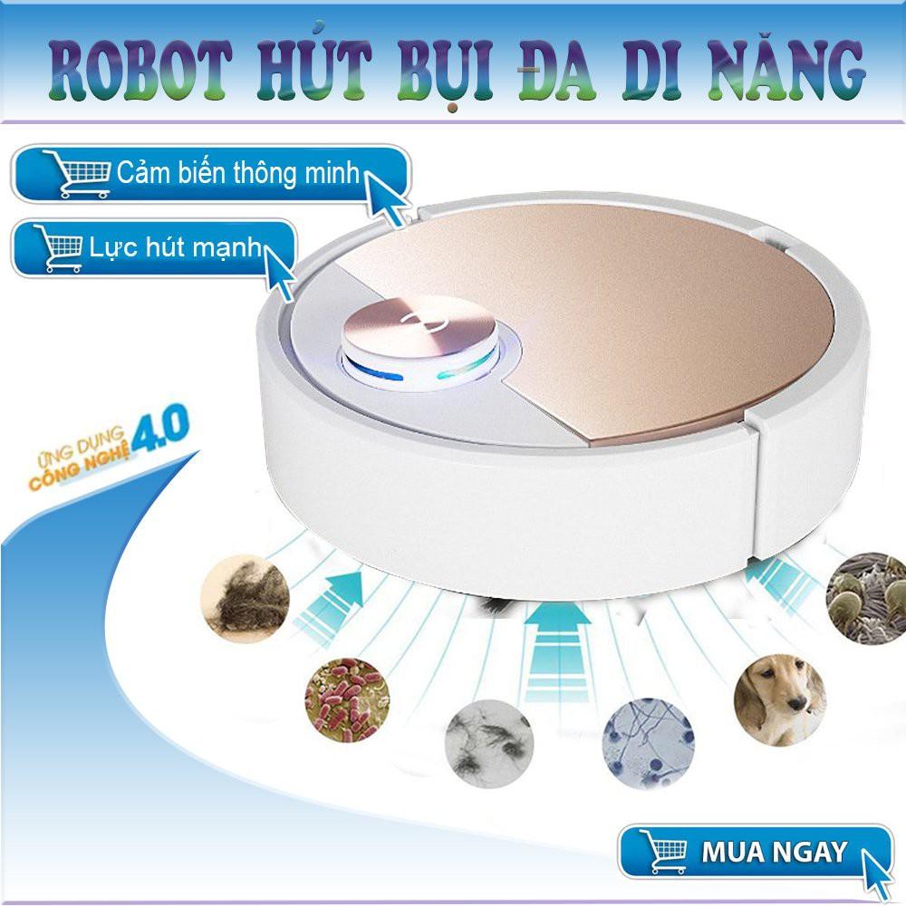 Robot Hút Bụi, Robot Hut Bui Thong Minh- Công Suất Lớn, Điều Khiển Qua Ap.  Bảo Hành uy tín.Mua Ngay. ES06