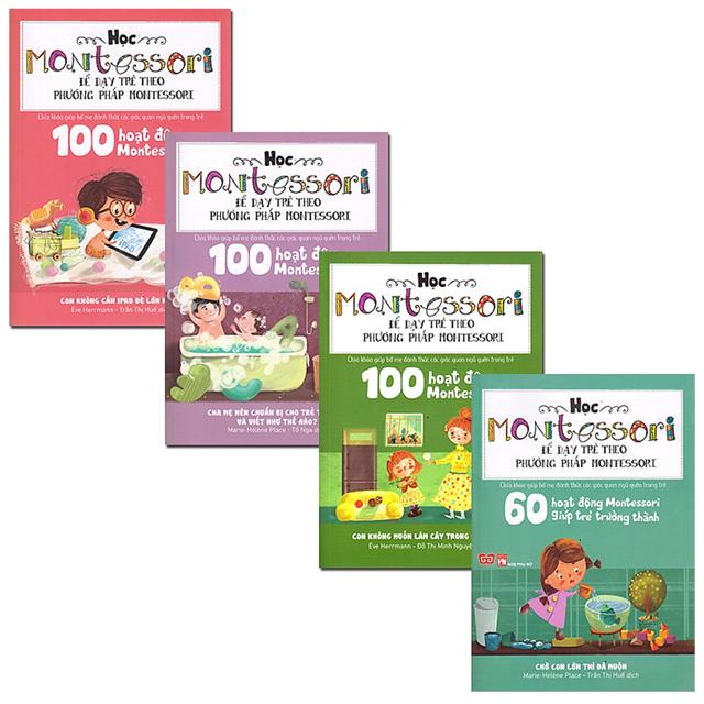 Sách - Combo 4 Cuốn Học Montessori Để Dạy Trẻ Theo Phương Pháp Montessori