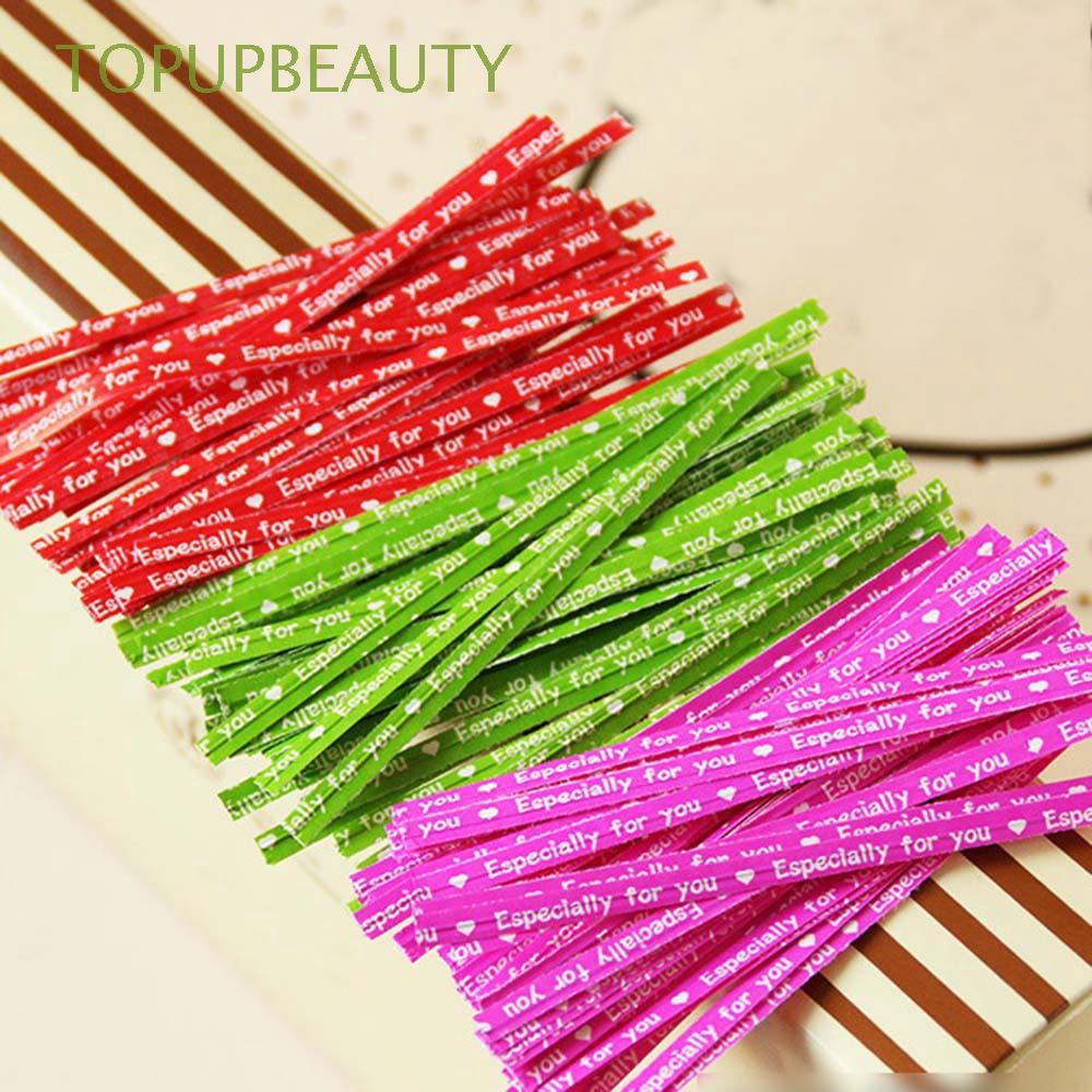 100PCS Home Wedding Party Gift Bag Bakery Packing Tie