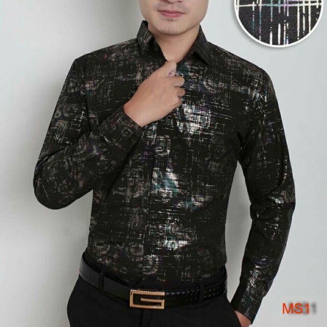 Áo sơ mi lụa 3D thời trang chất đẹp OSN172 ASM044