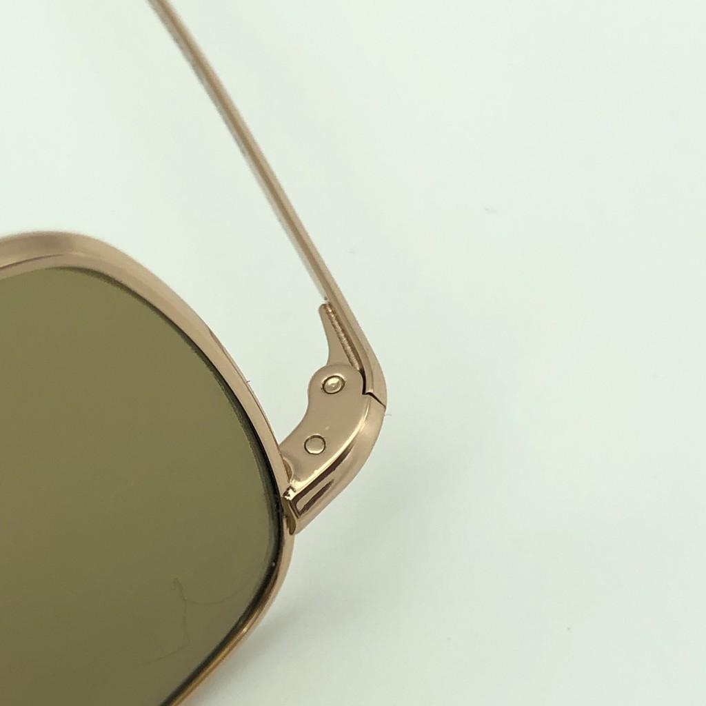 AMERICAN OPTICAL kính cơn vuông mạ vàng 12k mắt thủy tinh đẳng cấp