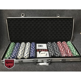 Bộ 500 phỉnh poker không số (chip poker) hàng nhập khẩu P03 ( có ảnh thật )