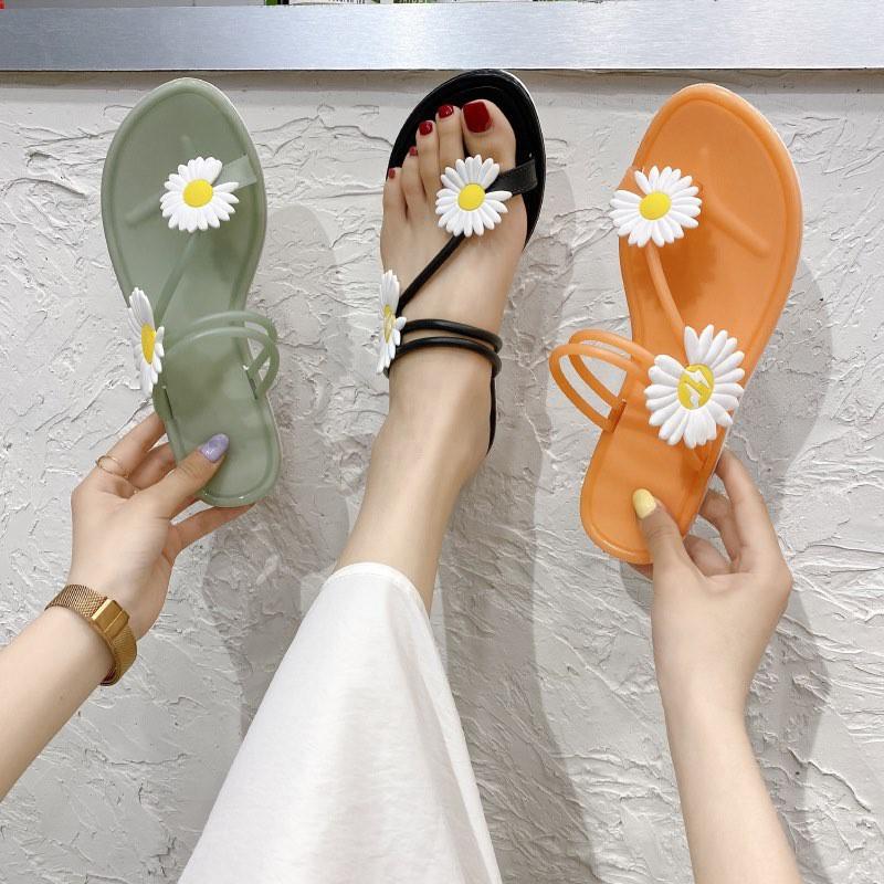 Dép hoa cúc mùa hè kiểu dáng Hàn Quốc D06