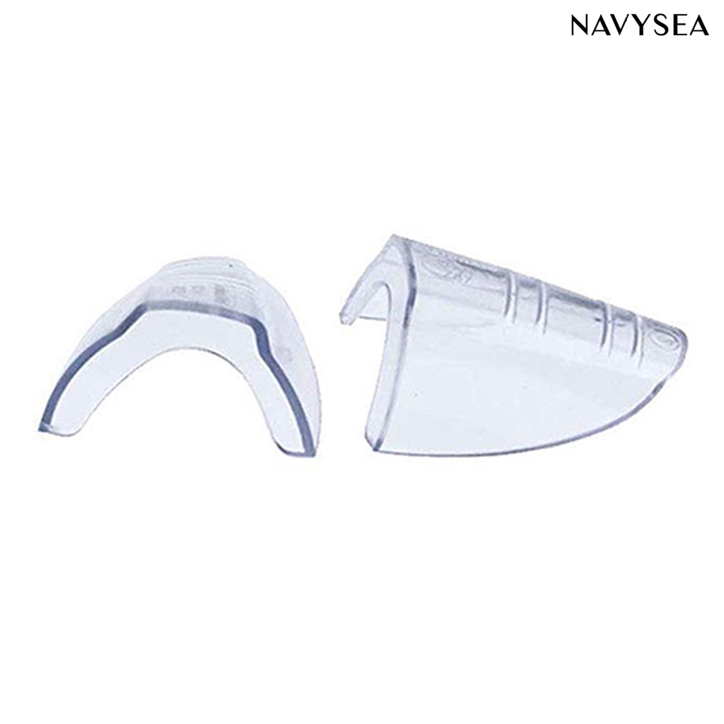 NAVY 2Pcs Glasses Side Shields Transparent Elastomer Plastic Assistant Goggles Protectors for Daily Life
