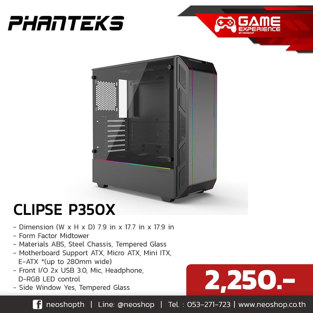 PHANTEKS Eclipse P350X RGB Black Tempered Glass - PHANTEKS Eclipse