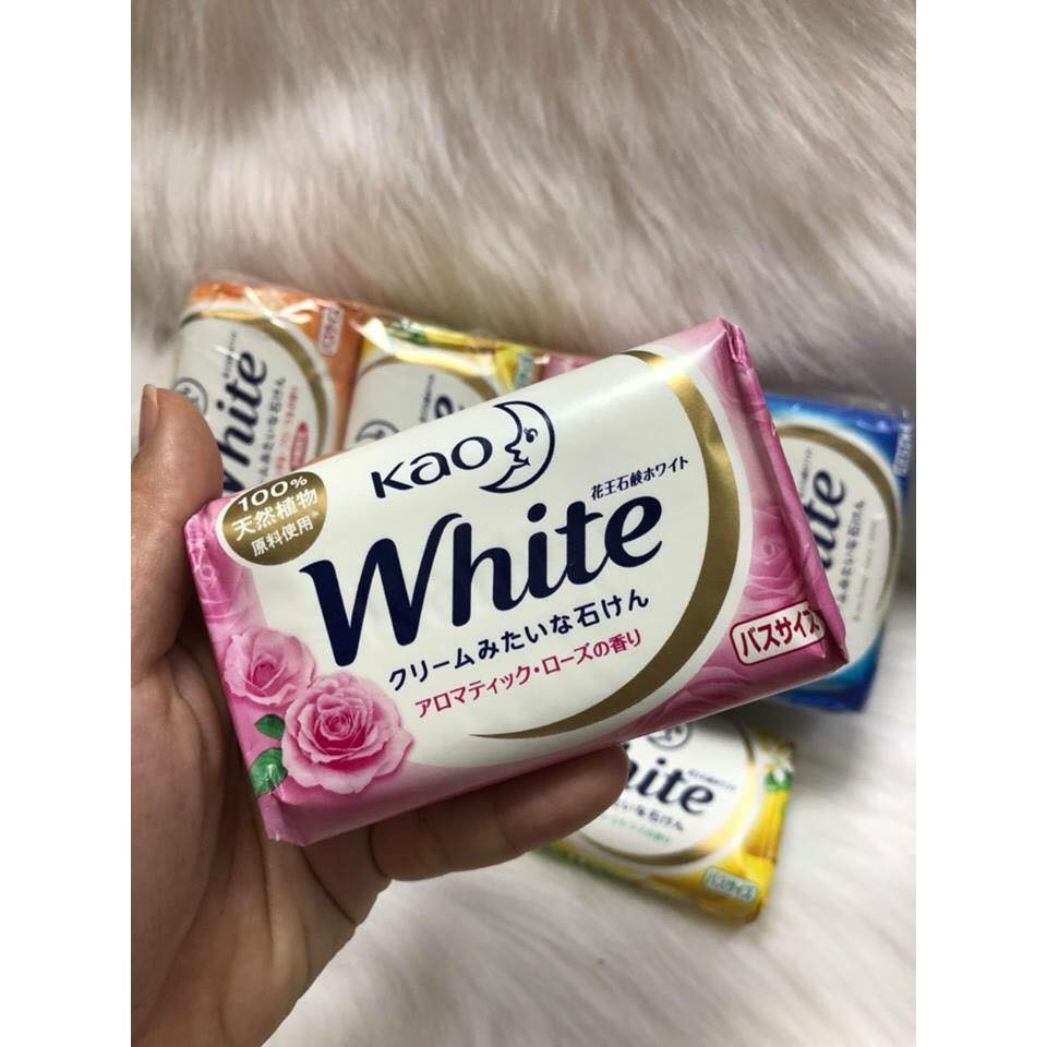 Xà phòng xà bông tắm Kao white 130g nội địa Nhật Bản