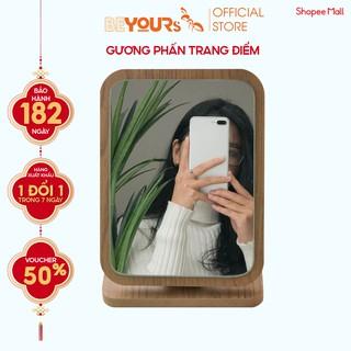Gương Soi Để Bàn Trang Điểm Gỗ Mini BEYOURs - Phấn Mirror Nội Thất Decor Phòng Ngủ