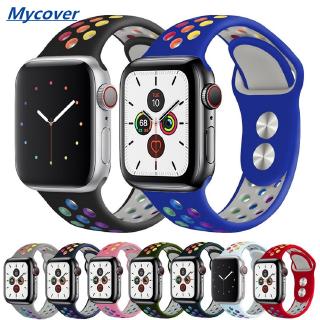 Dây đeo silicon có màu cho đồng hồ thông minh Apple Watch 44mm 40mm 38mm 42mm Band Series 6 SE 5 4 3 2 1