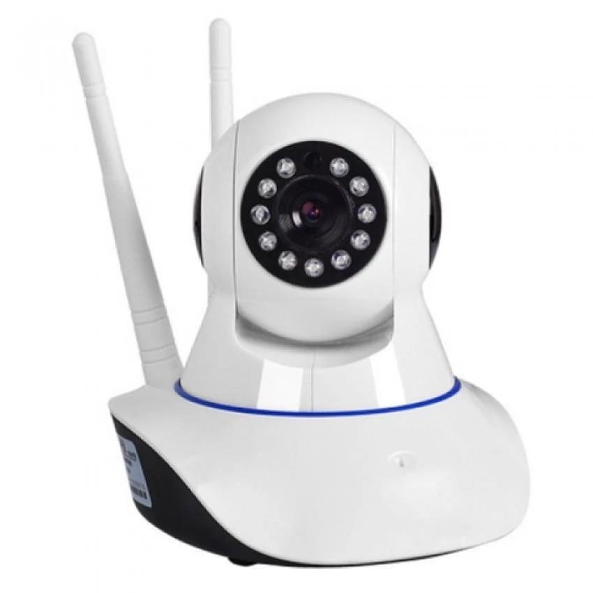 Camera IP HD giám sát và báo động xoay 24h 2 ăng-ten A9LS (Trắng)