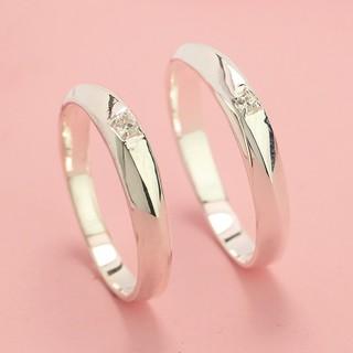 Nhẫn cặp đôi nam nữ bạc ta nguyên chất khắc tên theo yêu cầu ND0096 - Trang Sức TNJ