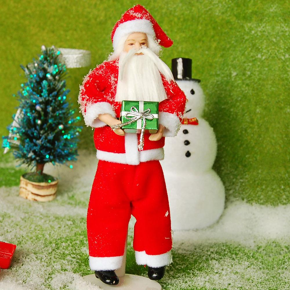 HW Cute Santa Claus Style Ceramic Doll Perfect Gift for Christmas
