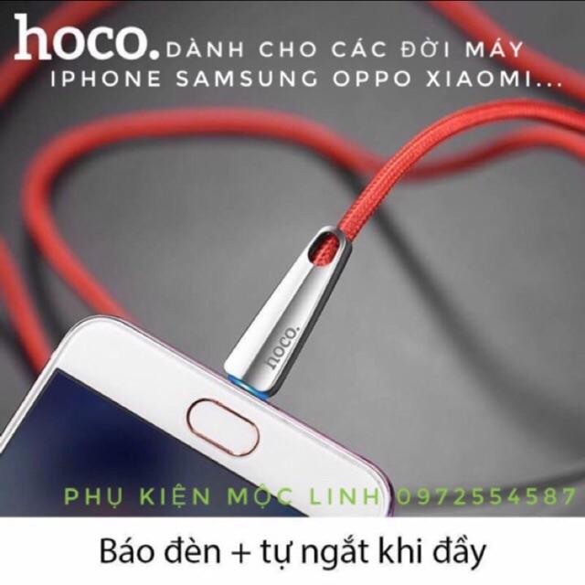CÁP SẠC NHANH TỰ NGẮT CAO CẤP HOCO U35 CAO CẤP BẢO HÀNH 6 THÁNG CHO IPHONE SAMSUNG OPPO HTC XIAOMI TYPE C 5 6 7 8plus X