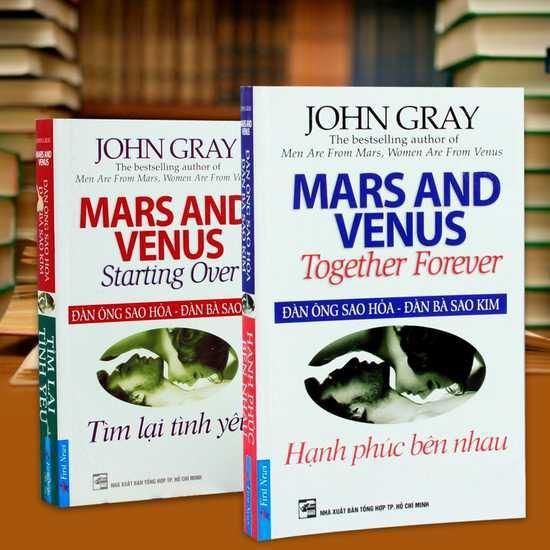 Sách - Combo 2 cuốn Đàn ông Sao Hỏa, đàn bà Sao Kim (tìm lại tình yêu, hạnh phúc bên nhau)